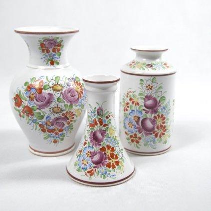 Sada 3 chodských váz