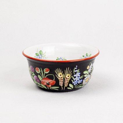 Miska střední, ø 13cm, chodská keramika, černá