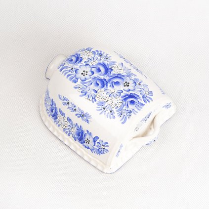 Pekáč z chodské keramiky, modrý