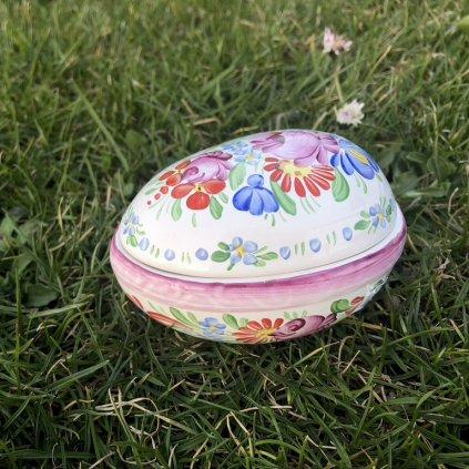 Velikonoční vajíčko z chodské keramiky, fialové
