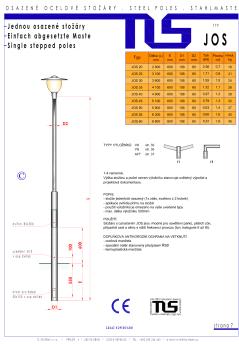 Katalogový list - stožár typu JOS