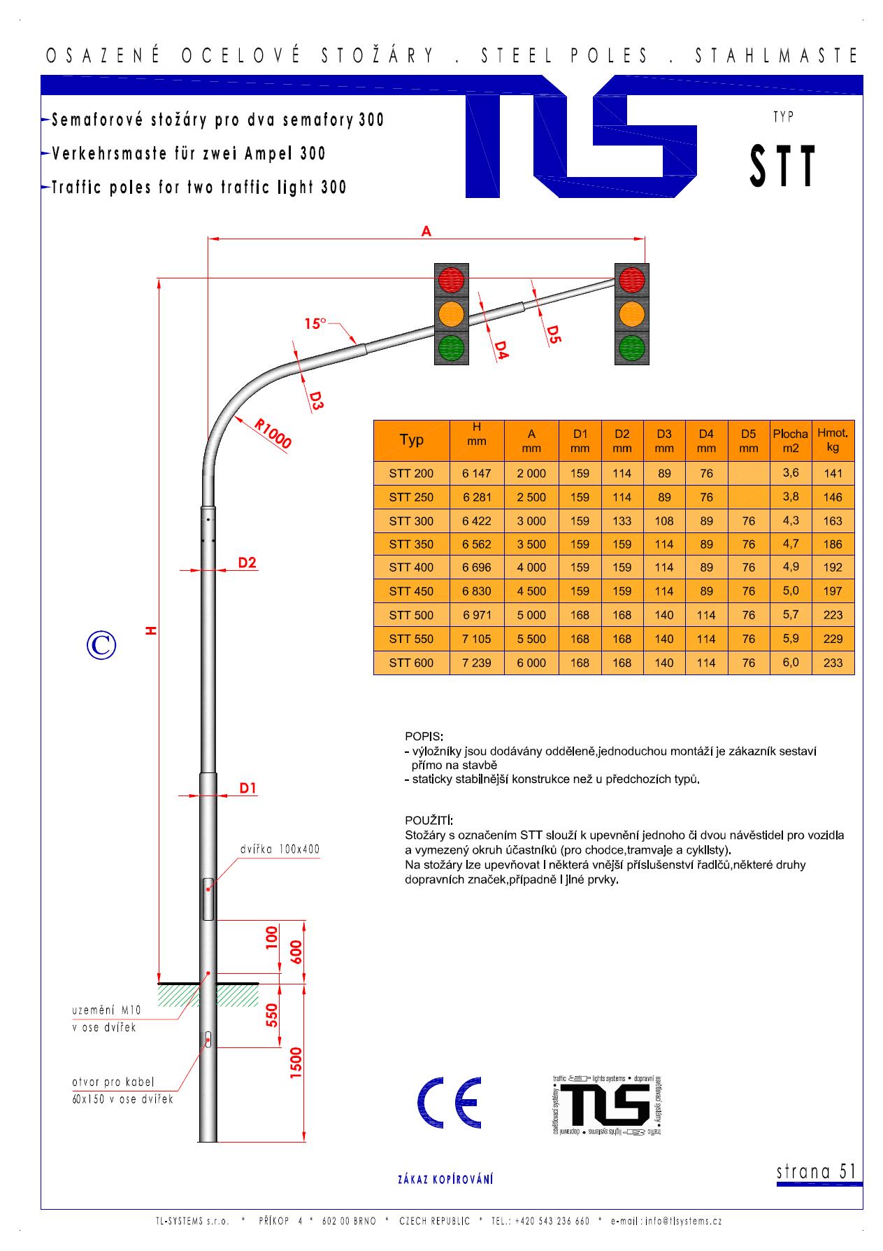 Katalogový list - stožár typu STT