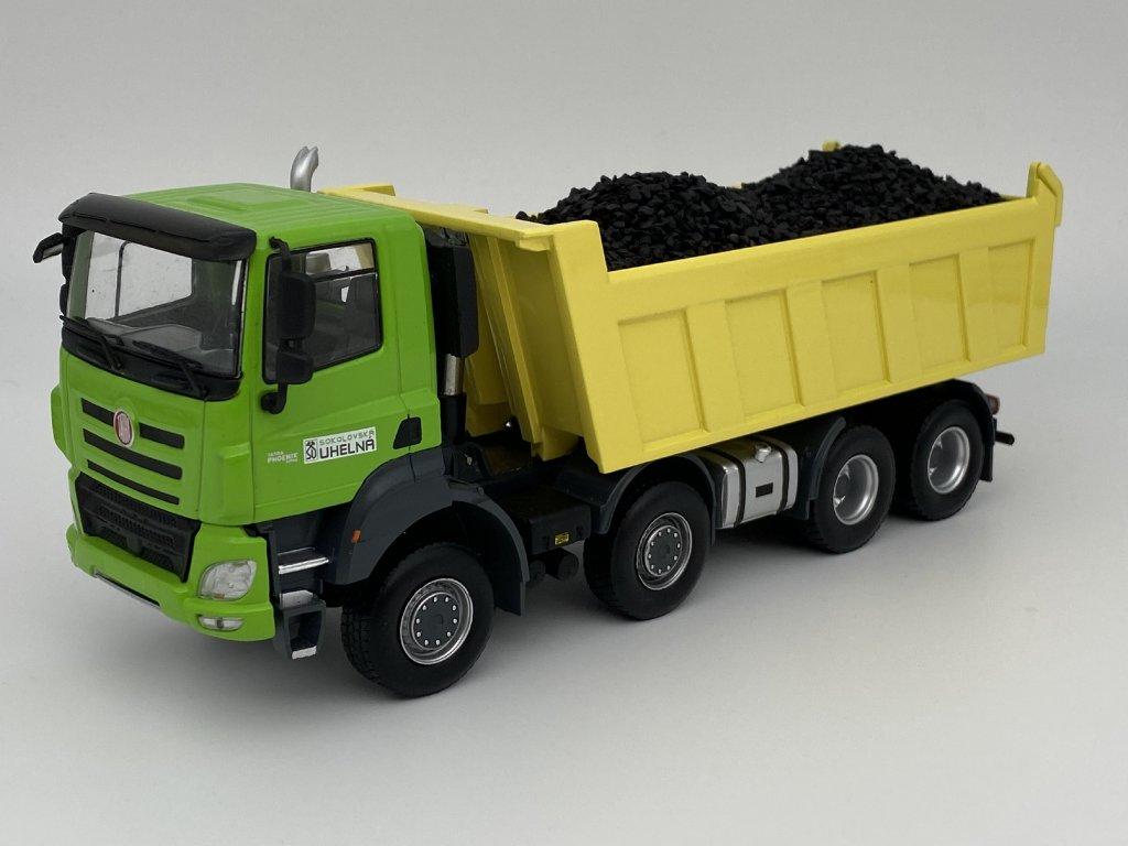 Tatra Phoenix Sokolovská uhelná + uhlí zelená/žlutá 1:43 IXO