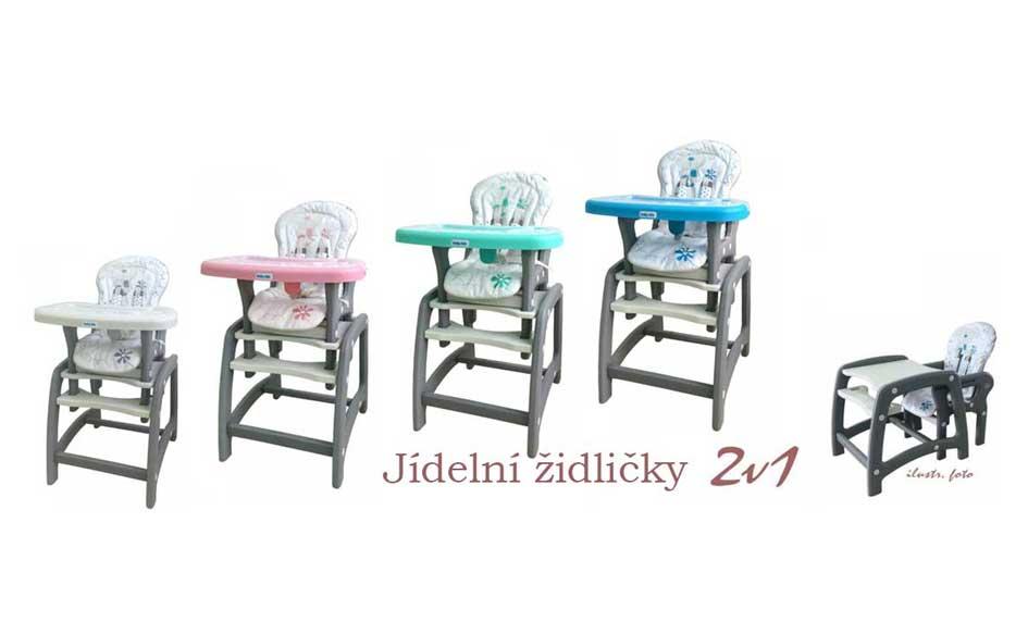 Jídelní židlička 2v1 Baby Mix