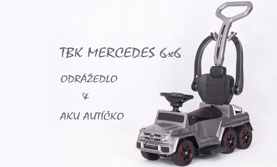 TBK odrážedlo Mercedes 6x6 s aku pohonem