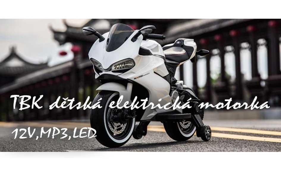 TBK dětská sportovní motorka Ducati Panigale 2019 12V bílá