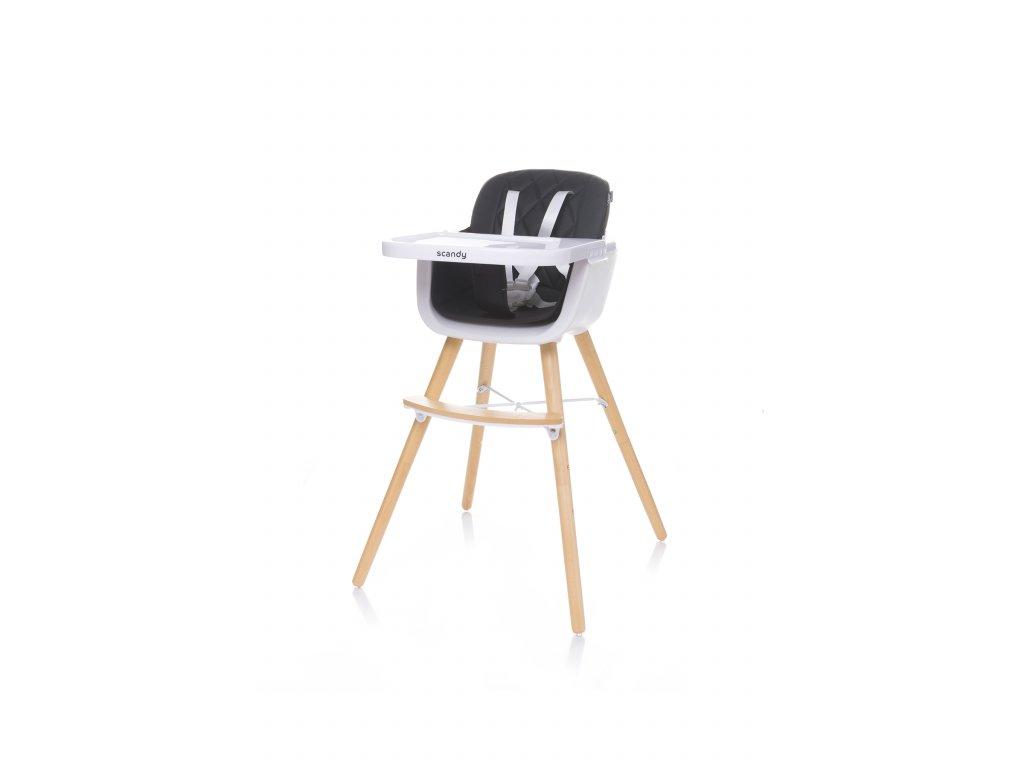 4Baby Jídelní židlička SCANDY XX black