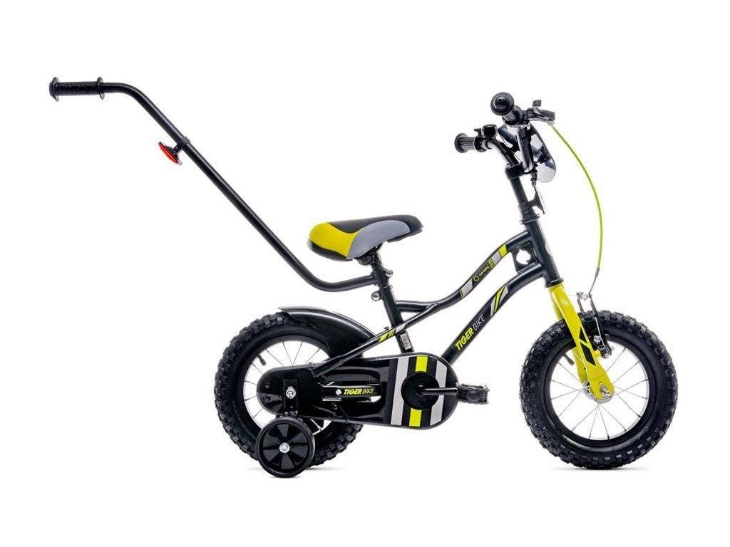 Dětské kolo 14 s vodící tyčí Tiger bike žluté 2