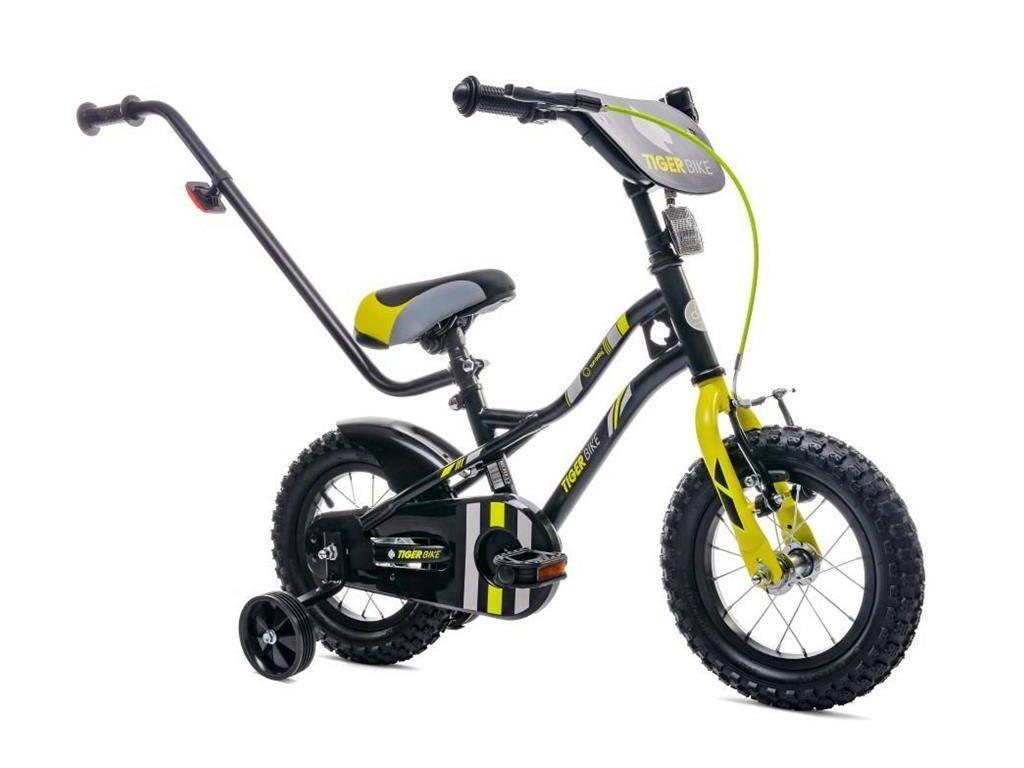 Dětské kolo 16 s vodící tyčí Tiger bike žluté (2)