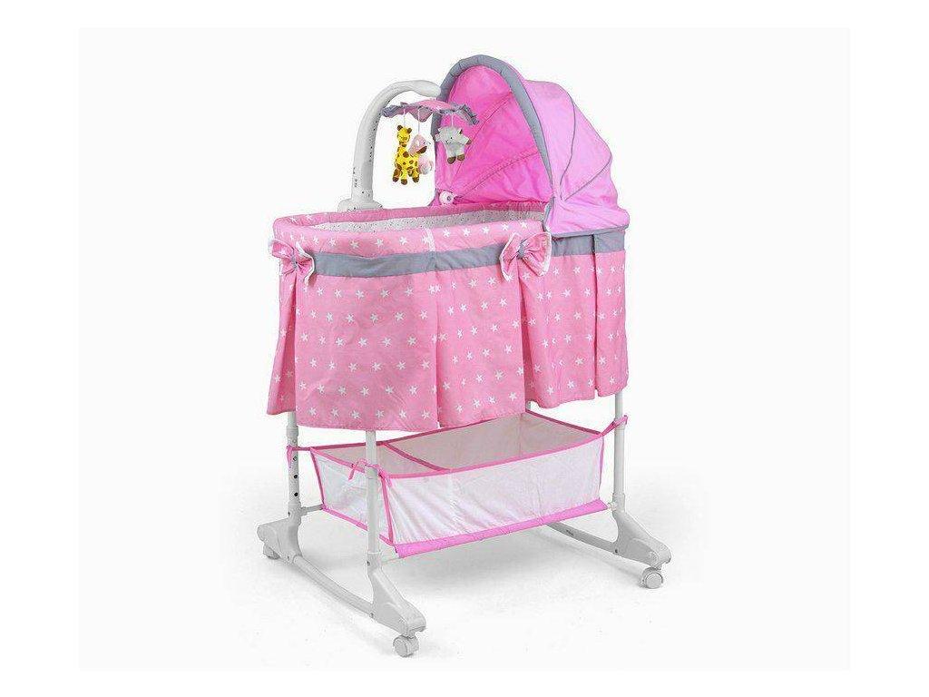 Multifunkční kolébka Milly Mally Sweet Melody pink (4)