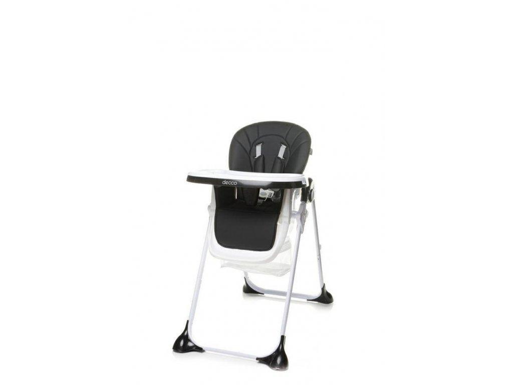 Jídelní židlička 4Baby Decco černá (2)