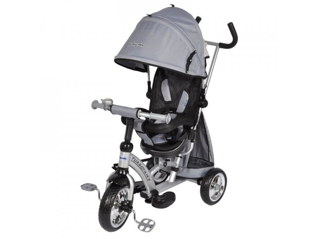 Tříkolka Baby Mix Turbo Trike stříbrná