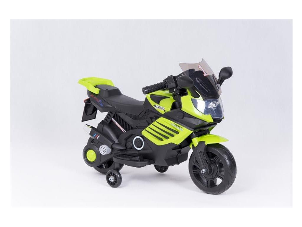 Dětská elektrická motorka K1200 zelena1