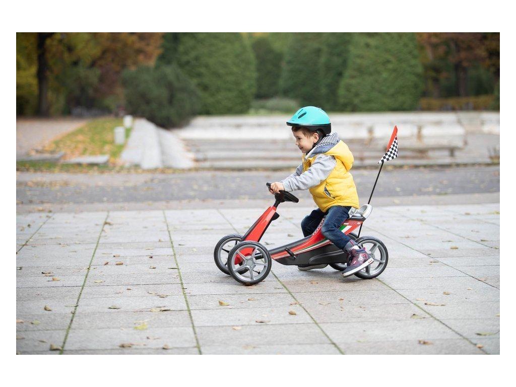 TBK šlapací motokára Ferrari Go Kart žlutá (1)