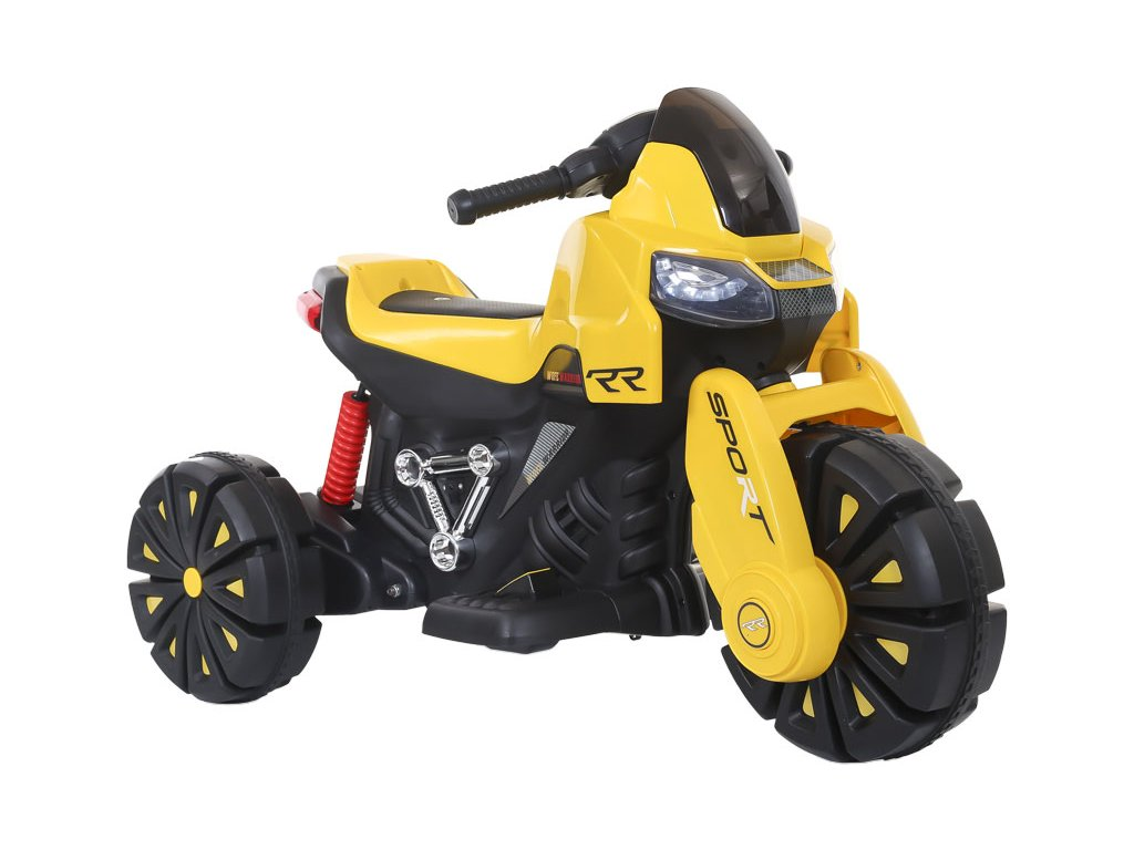 TBK dětská elektrická motorka tříkolová RR 2019 žlutá