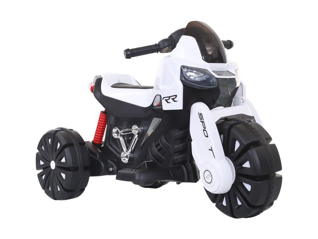 TBK dětská elektrická motorka tříkolová RR 2019 bílá