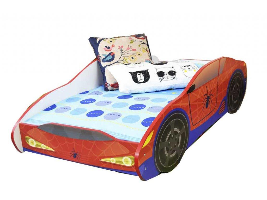 Dětská postel auto spiderman 80x160 cm