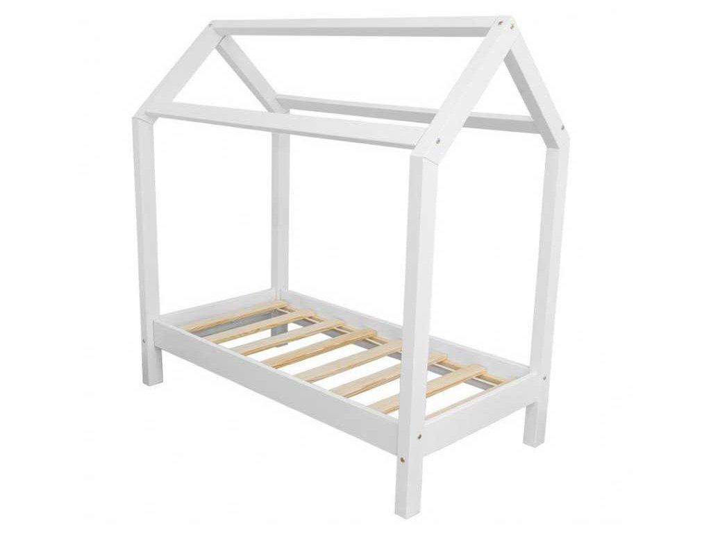 Dětská postel domeček bílý