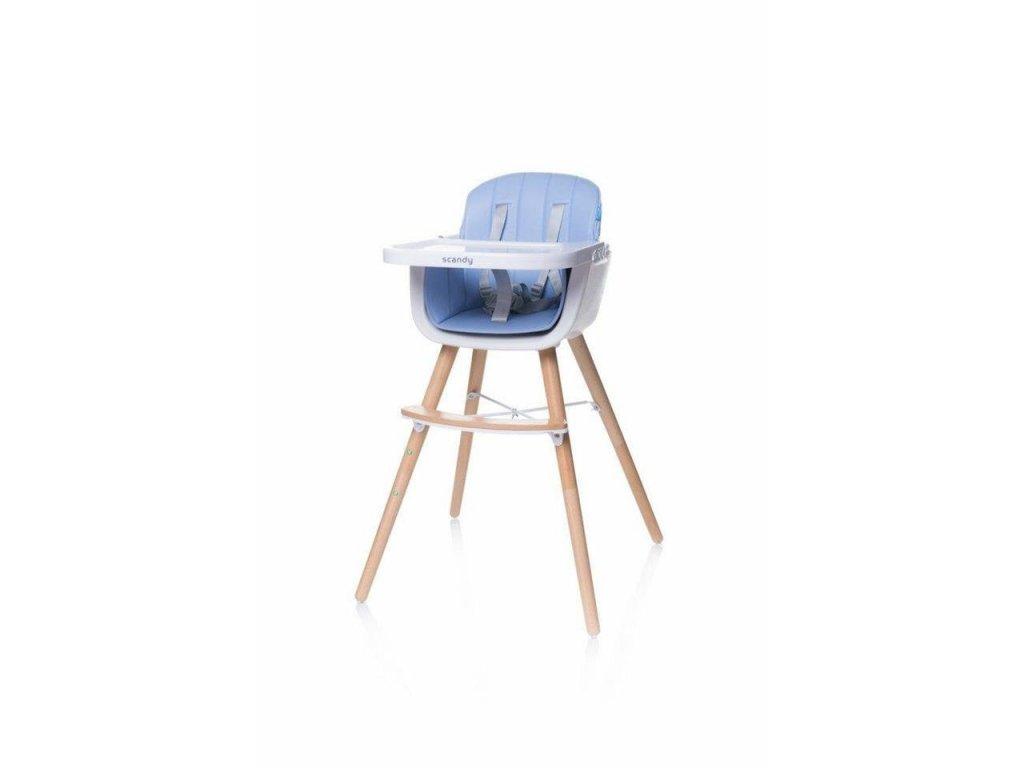 4Baby Jídelní židlička SCANDY Blue (1)
