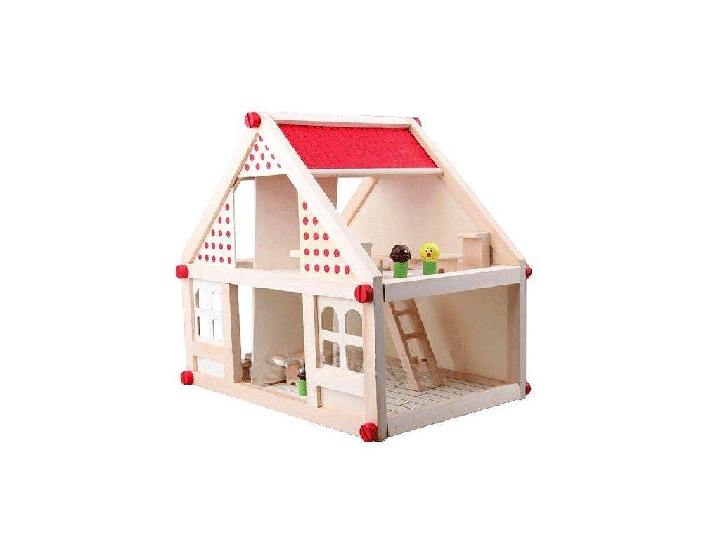 Doris dřevěný domeček s nábytkem 15 kusů 35 cm 2