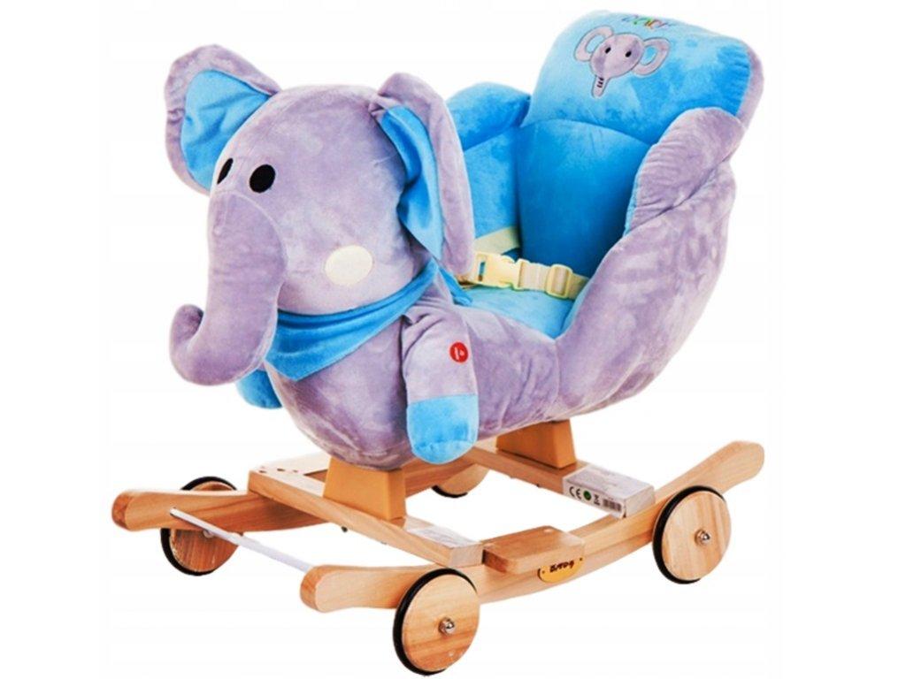 Nelly houpací křesílko slon modrý