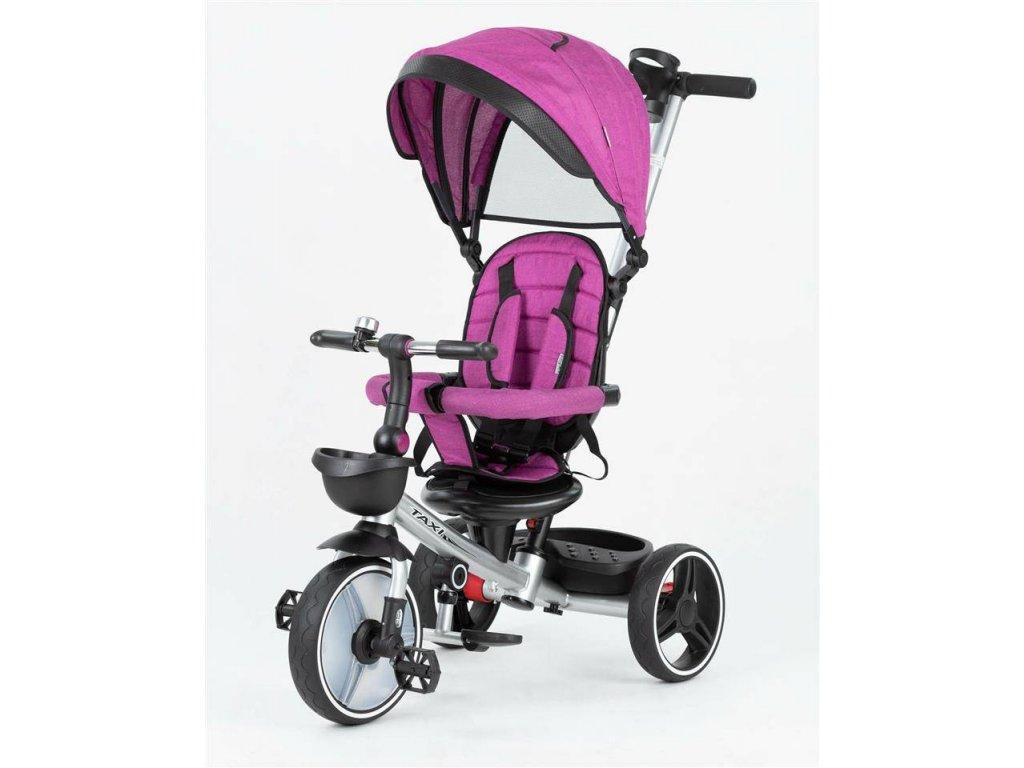 Baby Mix tříkolka Taxi rozložitelná 2020 růžová (2)