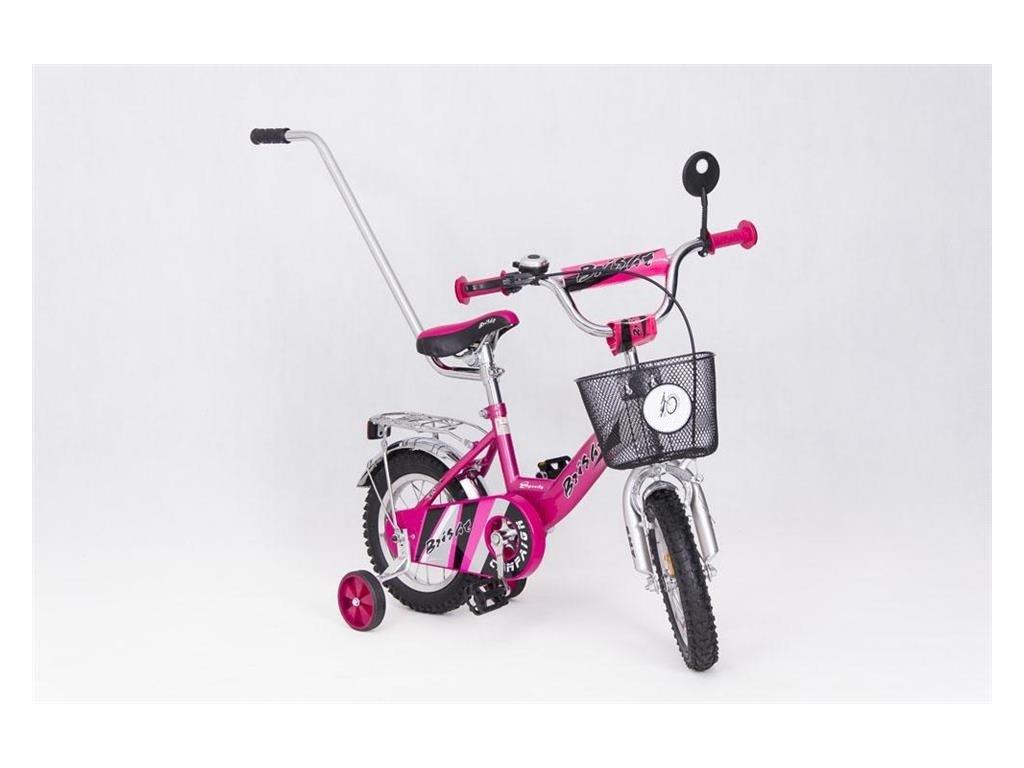 Dětské kolo 12 s vodící tyčí Speedy Lisa růžové (2)
