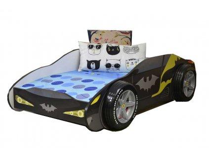 Dětská postel auto batman 3D kola 80x160 cm