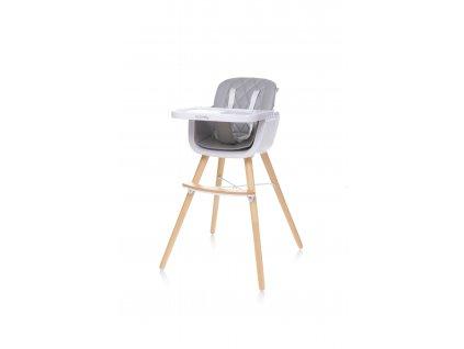 4Baby Jídelní židlička SCANDY XX světle šedá