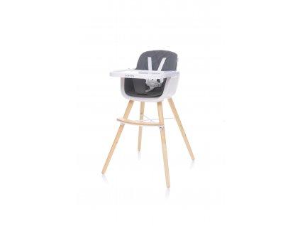 4Baby Jídelní židlička SCANDY XX tmavě šedá