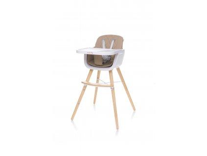 4Baby Jídelní židlička SCANDY XX camel