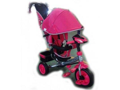 Baby Mix tříkolka s LED světly Lux Trike růžová nový model 2020