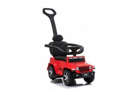 TBK odrážedlo Jeep Rubicon s vodící tyčí 5v1 červené