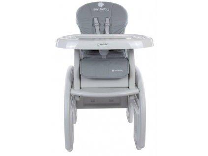 Sun Baby jídelní židlička 2v1 šedá (1)