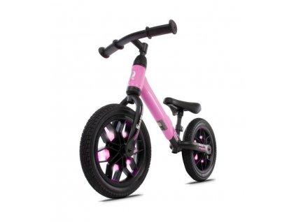 Odrážecí kolo 12 Spark s LED, gumová kola růžové (3)