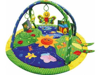 Sun Baby barevná hrací deka s přívěšky motýlek (2)