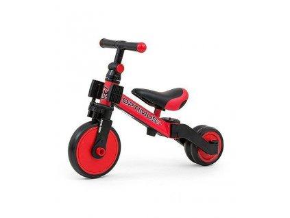 Dětská tříkolka 3v1 Milly Mally Optimus red (1)