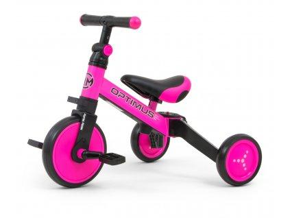 Dětská tříkolka 3v1 Milly Mally Optimus pink (5)