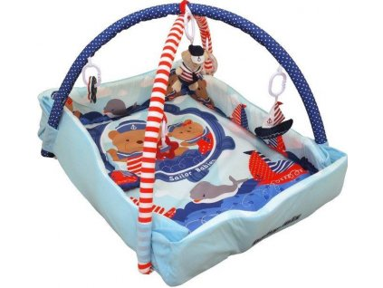 BABY MIX Hrací deka medvídek námořník