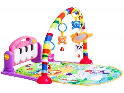 Haunger multifunkční hrací deka 3v1 růžová