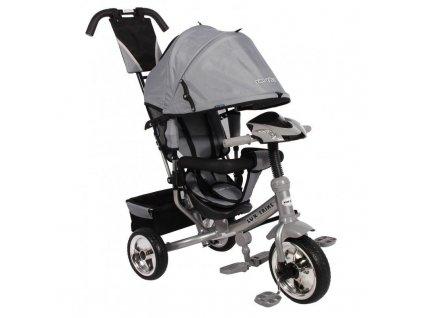 Baby Mix tříkolka s LED světly Lux Trike šedá