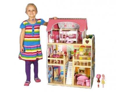 Eco toys dřevěný domeček pro panenky typu Barbie
