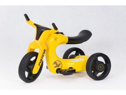 Dětská elektrická motorka Future 2019 FC žlutá (2)