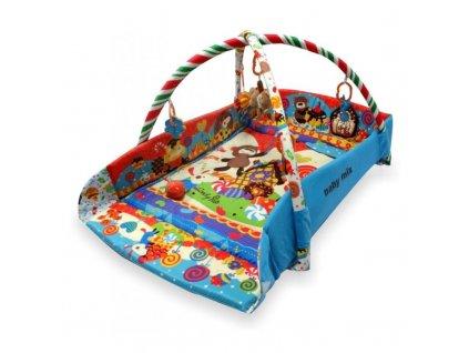 Baby Mix hrací deka s mantinelem zvířecí párty