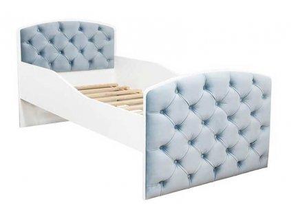 Dětká postel s čalouněním QUEEN šedá 80x160 cm