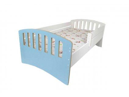 Dětská postel s bočnící Klasik modrá