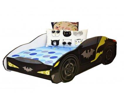 Dětská postel auto batman 80x160 cm