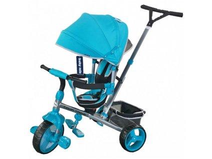 Baby Mix tříkolka s vodící tyčí Tour Trike 360 tyrkysová
