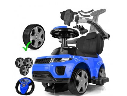 TBK odrážedlo Range Rover Exclusive gumové kola modré 2019