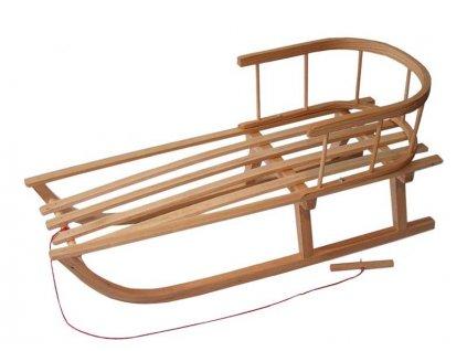 Tobiland dřevěné sáňky s opěrkou Spitze